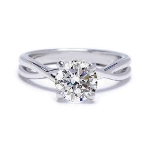 Tantalising Twisted Band Engagement Rings to Inspire - Simple Twist