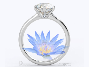 Adding Profile Detail on Your Engagement Ring - Water Lily