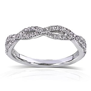 Beautiful Braided Engagement Rings - Pave Infinity Braid