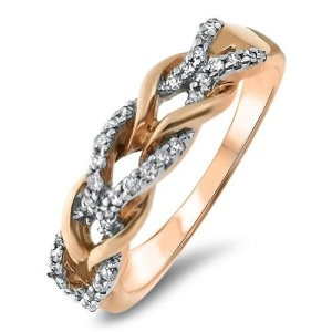 Beautiful Braided Engagement Rings - Pave Twist Braid