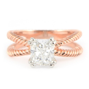Beautiful Braided Engagement Rings - Split Shank Braid