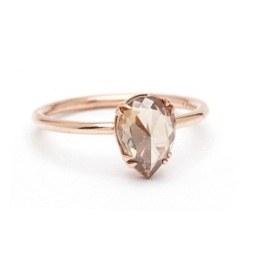 Get Inspired by These Delicate Engagement Rings - Champagne Pear