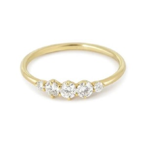 Get Inspired by These Delicate Engagement Rings - Five Stone
