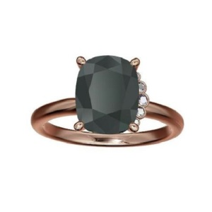 Exquisite Asymmetrical Engagement Rings - Black Diamond