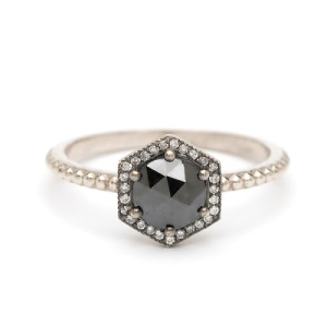 Get Inspired By These Exquisite Hexagon Engagement Rings - Black Diamond