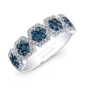 Get Inspired By These Exquisite Hexagon Engagement Rings - Blue Diamond