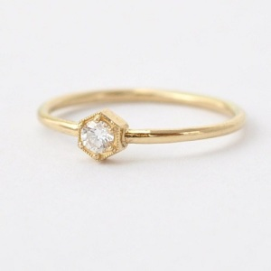 Get Inspired By These Exquisite Hexagon Engagement Rings - Delicate and Minimal