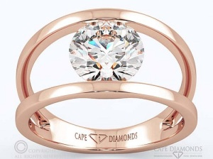 Dreamy Double Band Engagement Rings - Rose Gold