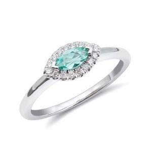 Tantalising Tourmaline Engagement Rings - Marquise Halo