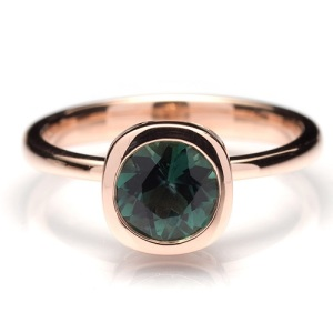 Tantalising Tourmaline Engagement Rings - Rose Gold