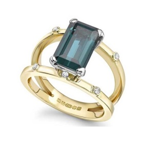 Tantalising Tourmaline Engagement Rings - Split Band