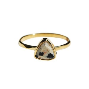 Unique Engagement Ring Ideas - Dalmatian Jasper Triangle Ring
