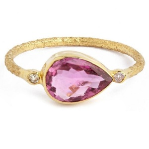 Unique Engagement Ring Ideas - Pink Tourmaline Ring