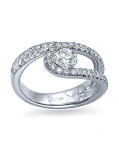 Unique Engagement Ring Ideas - Platinum Pave Twist Ring