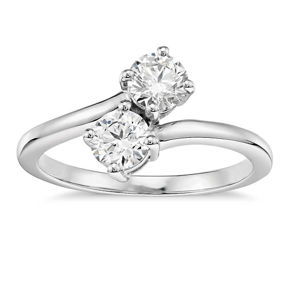 fc139850db70 Romantic Two Stone Engagement Rings - Entwined Diamonds