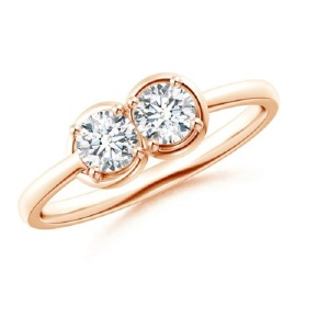 Romantic Two Stone Engagement Rings - Infinity Knot