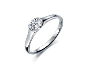 Beautiful Bezel Engagement Rings - Half Bezel