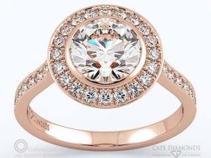 Beautiful Bezel Engagement Rings - Halo Pave