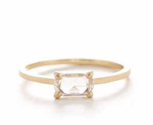 Elegant East West Engagement Rings - Emerald Cut