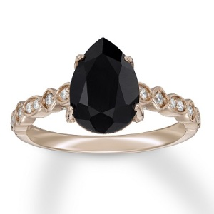 Dramatic Engagement Rings - Black Sapphire