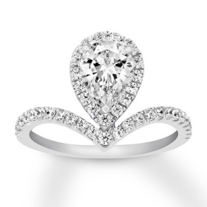 Dramatic Engagement Rings - Chevron Pear