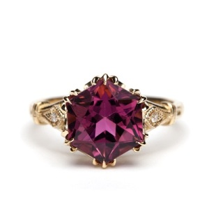 Dramatic Engagement Rings - Geometric Tourmaline