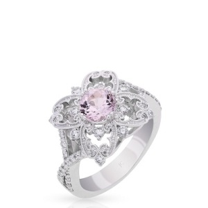 Dramatic Engagement Rings - Morganite Bloom