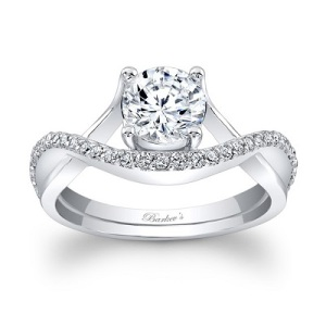 Dramatic Engagement Rings - Pave Loop