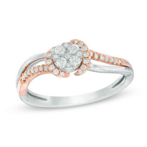 Dramatic Engagement Rings - Two Tone