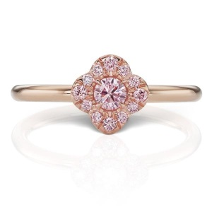 Rosy Engagement Rings for the Romantic Bride - Pink Diamond Bloom