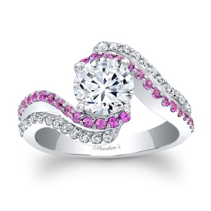 Rosy Engagement Rings for the Romantic Bride - Pink Sapphire Twist