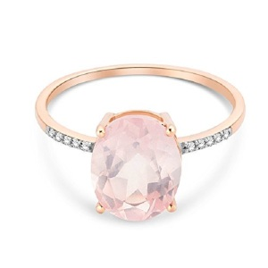Rosy Engagement Rings for the Romantic Bride - Rose Quartz Solitaire