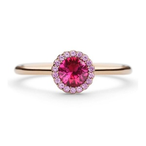 Rosy Engagement Rings for the Romantic Bride - Ruby Pink Sapphire