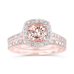 Rosy Engagement Rings for the Romantic Bride - Split Band Morganite
