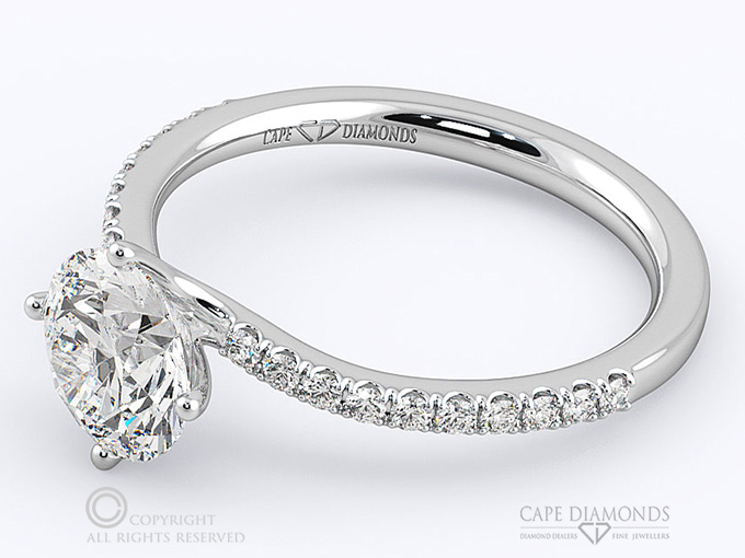 113 four claw twist micro setting engagement ring