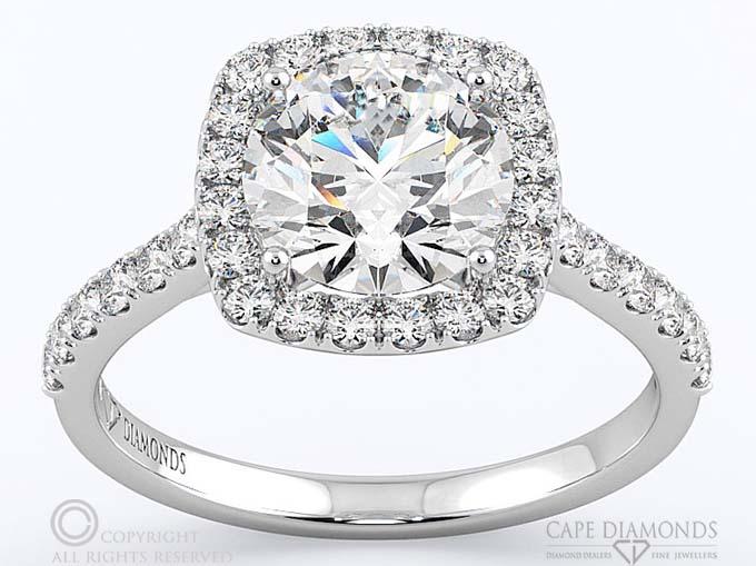 Engagement rings cape diamonds cape diamonds halo engagement rings junglespirit Choice Image