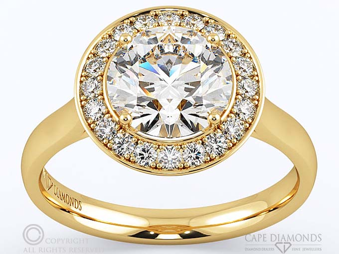 solitaire ct ara gold white cut engagement shop ring jewellery d rings diamond diamonds cushion