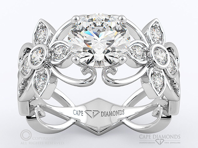 126 flower vine diamond engagement ring cape diamonds