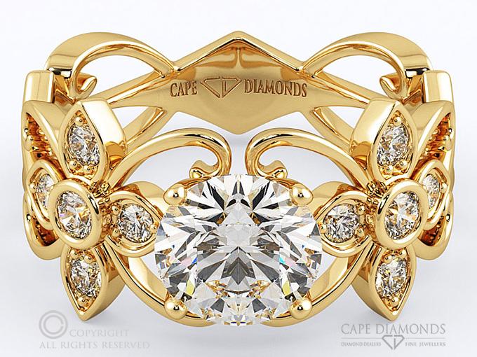126 flower vine diamond engagement ring cape diamonds