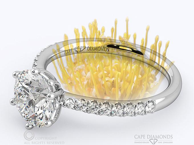 Pincushion Diamond Ring