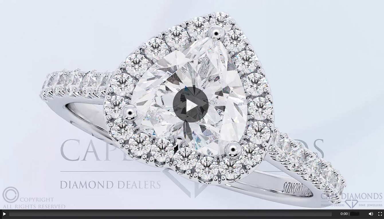 db52305447844 58. Heart Halo Diamond Engagement Ring Jewellery Cape Town | : Cape ...
