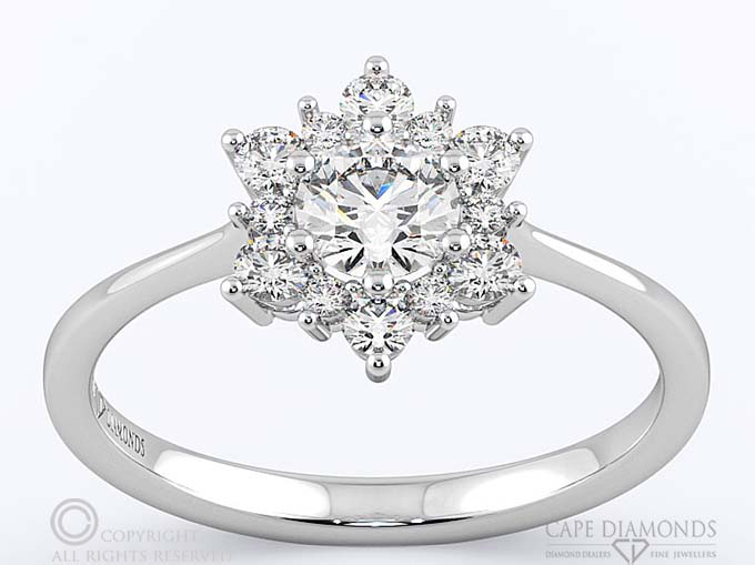 Halo Engagement Amp Wedding Ring Collection Cape Diamonds
