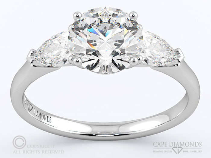 1dca3b411ccee 144 Trilogy Round Diamond, South Africa set in 3 Stone Diamond ...