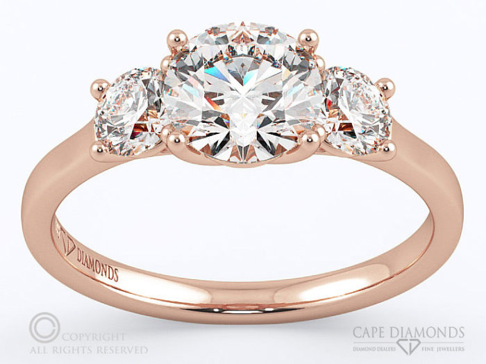rose gold engagement amp wedding ring collection cape diamonds