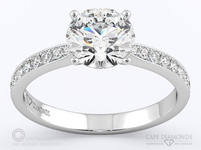 Side Stones Engagement Wedding Ring Collection Cape Diamonds