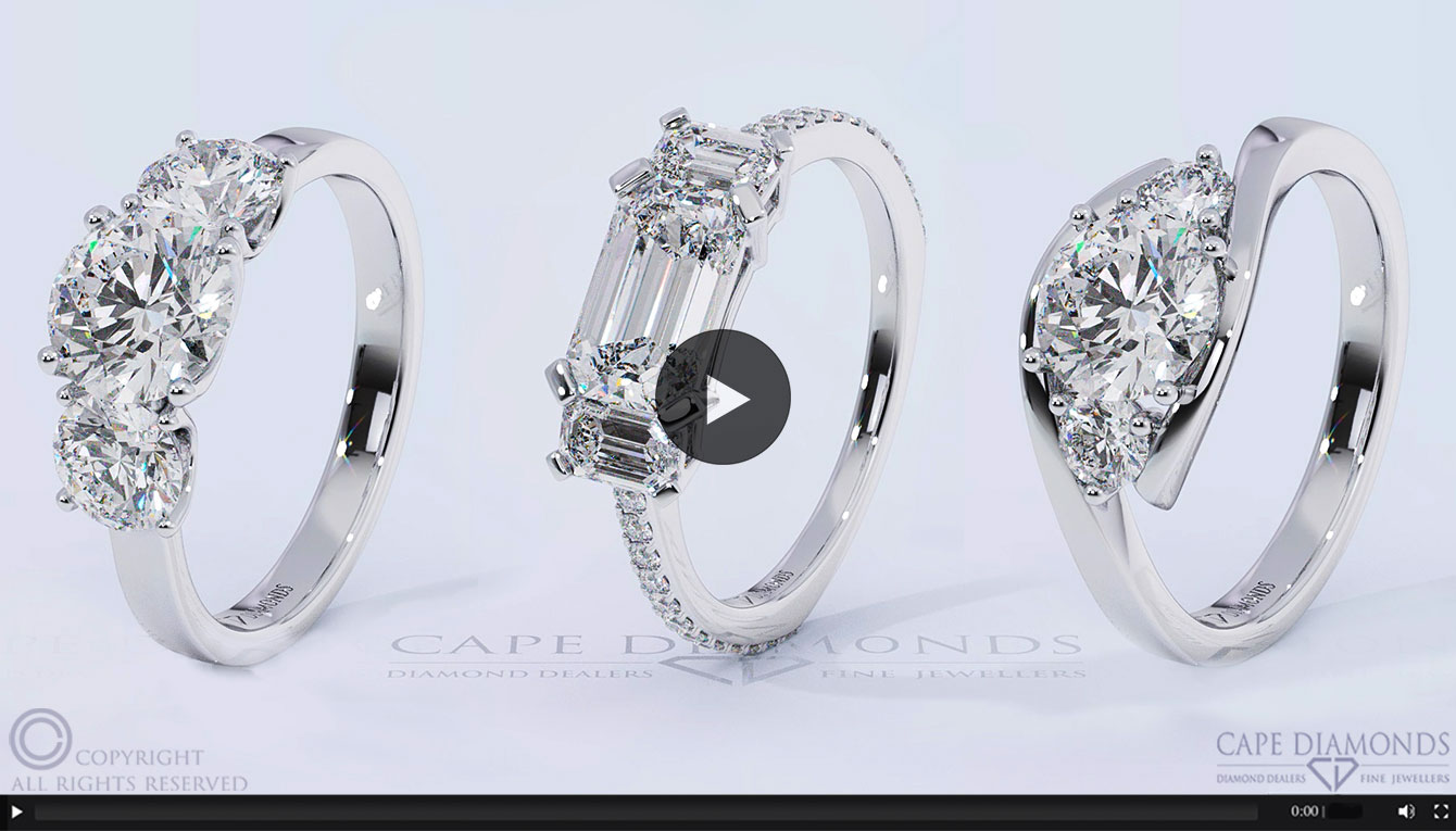 Trilogy Engagement Wedding Ring Collection Cape Diamonds