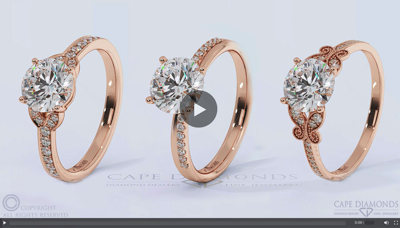 Rose Gold Engagement Wedding Ring Collection Cape Diamonds