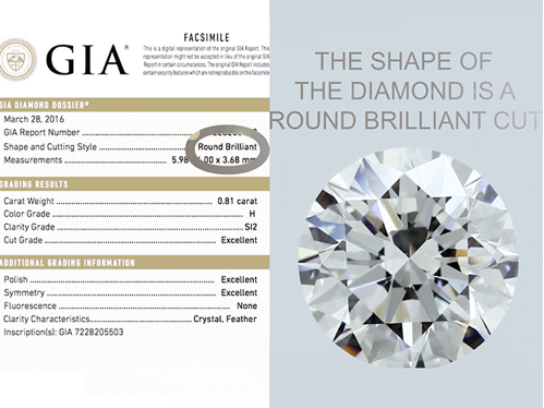 Example of GIA Diamond Shape